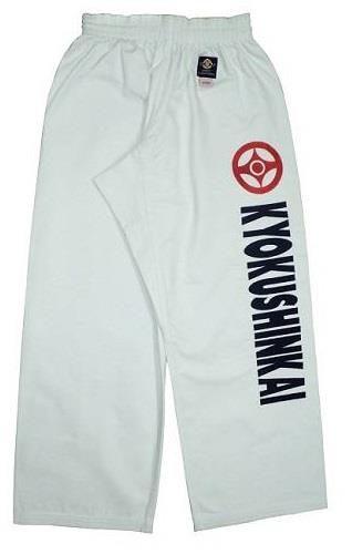 Pantalon+Kyokushin+Blanc+avec+lettres+pleines